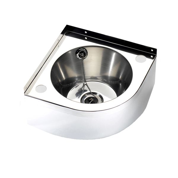 Stainless Steel Corner Wash Basin image