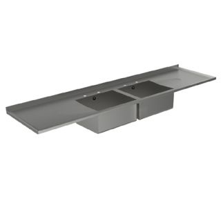 Double Bowl Double Drainer Catering Sink Tops image