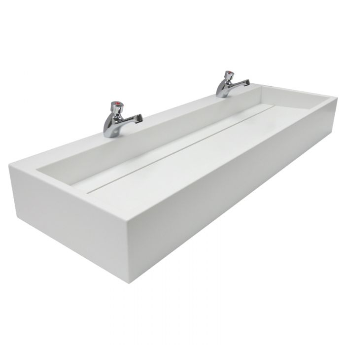 Designer Trough Sinks Made From Hi-Macs Solid Surface image