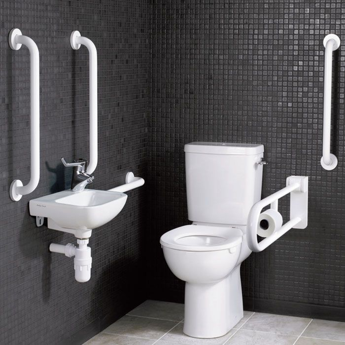 Doc M Pack Close Coupled Armitage Shanks Disabled Toilet Pack.