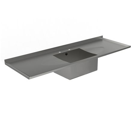 Stainless Steel Single Bowl Double Drainer Sink Tops