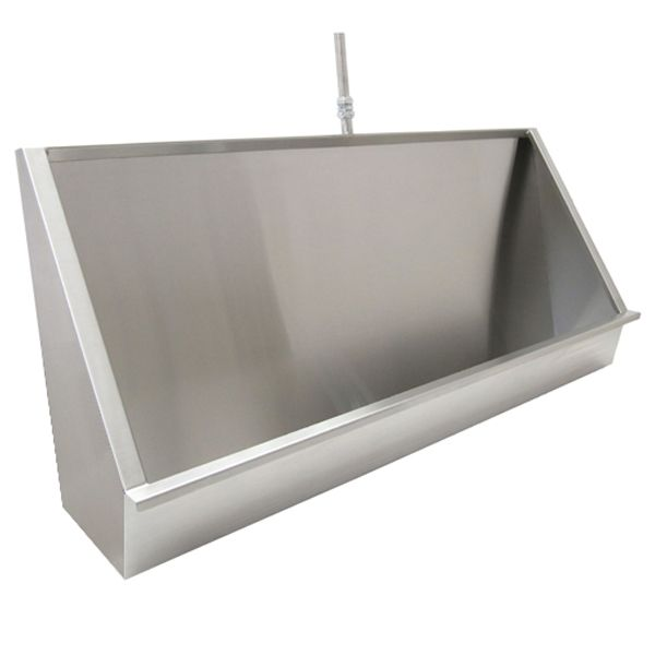 Vandal Resistant Trough Urinals In Stainless Steel
