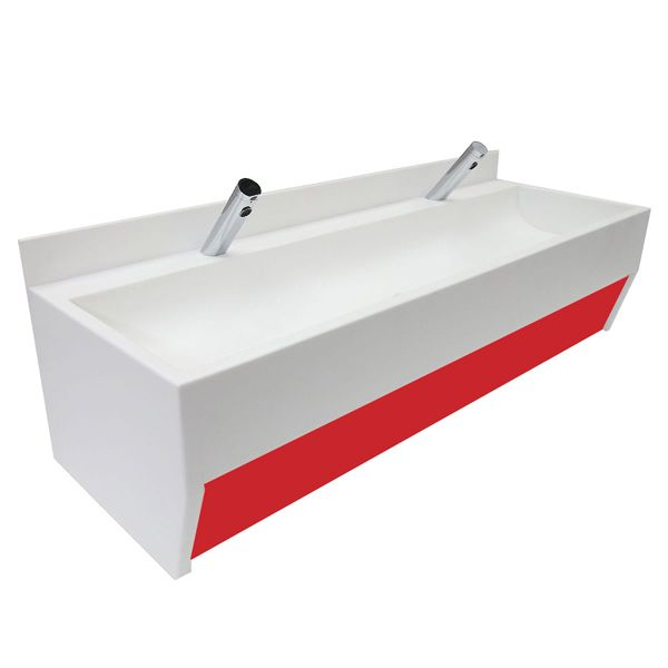 wall mounted solid surface trough sinks for schools