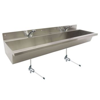 large school trough sink with kee valves