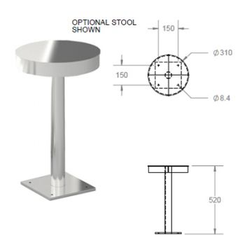 stools for wudu foot wash troughs