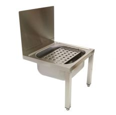 Bucket Sinks With Removable Grating In Stainless Steel image