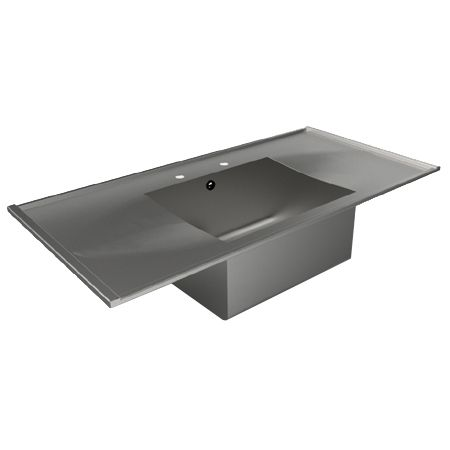 Inset Single Bowl Double Drainer Sink Tops