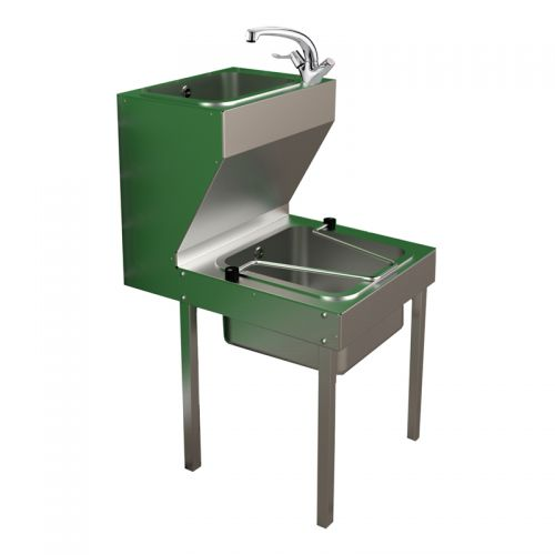 All-In-One Janitorial Sink Units In Stainless Steel image