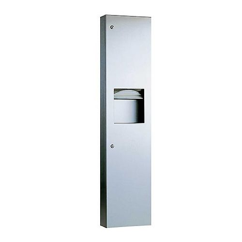 Large Combined Towel Dispenser Waste Bin - Surface Mounted image