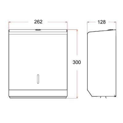 polished stainless steel towel dispenser dimensions