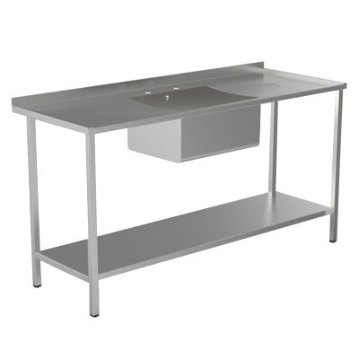 Single Bowl Double Drainer Sink Unit With Frame image