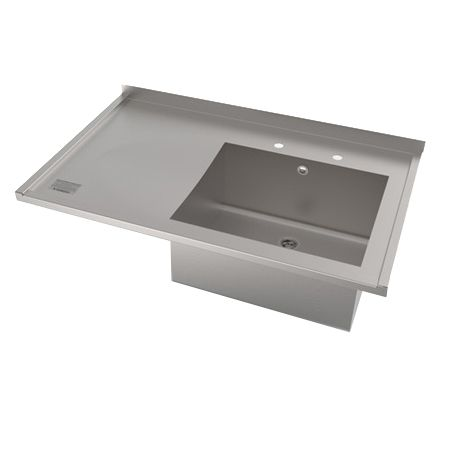 Single Bowl Single Drainer Sit On Catering Sink image