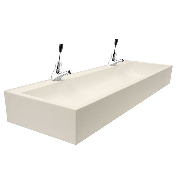 Sit-On Children's Trough Sinks In Solid Surface Material image