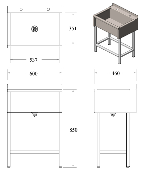 stainless steel belfast sink dimensions